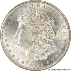 1894-S Morgan Silver Dollar NGC MS62 Low Mintage Better Date