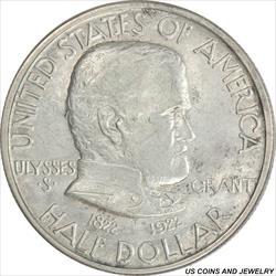 1922 Grant W/ Star Half Dollar Commemorative Choice XF+/AU