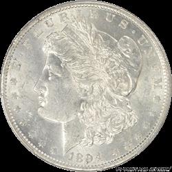 1894-O Morgan Silver Dollar PCGS AU58 Frosty White Super Slider