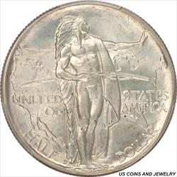 1937-D Oregon Half Dollar Silver Commemorative PCGS MS66 Frosty White