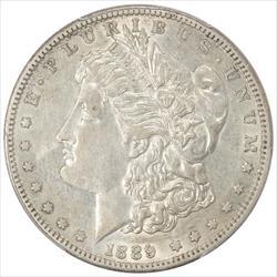 1889-CC Morgan Silver Dollar PCGS AU50 Frosty Attractive Key Date Coin
