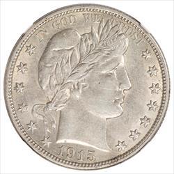 1915-D Barber Half Dollar NGC AU55