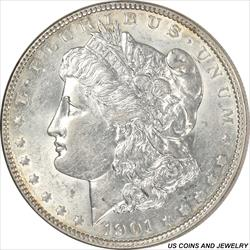 1901 Morgan Silver Dollar Choice AU++ Super Rare in High Grades