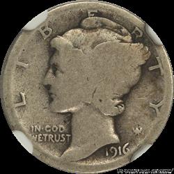 1916-D Mercury Dime NGC AG 03