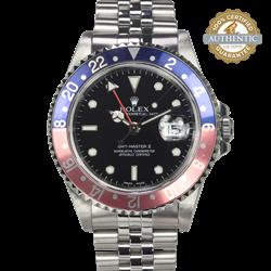Vintage Rolex 40mm  GMT Master II 16710 Pepsi Ghost Bezel Watch Only