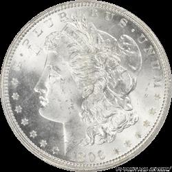 1896 Morgan Silver Dollar PCGS MS-65