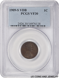 1909-S VDB Lincoln Cent PCGS