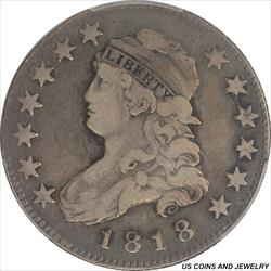 1818 Capped Bust Quarter PCGS VF20 Nice Original Patina