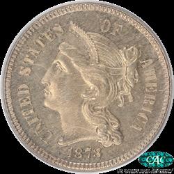 1878 3 Cent Nickel PCGS CAC PR63