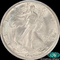 1917-S  Walking Liberty Half Dollar, Reverse Mintmark PCGS MS 64 CAC