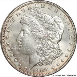 US 1903 Morgan Silver Dollar Choice UNC + Attractive Frost Coin