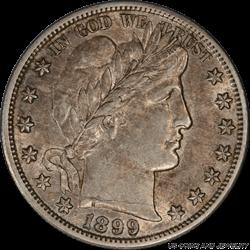 1899-S Barber Half Dollar PCGS AU53