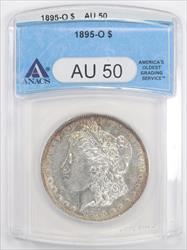 1895-O Morgan Silver Dollar ANACS  AU-50 - Peripheral Toning - Semi Key Date