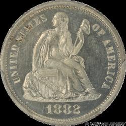 1882 Seated Liberty Dime Proof PCGS PR64CAM