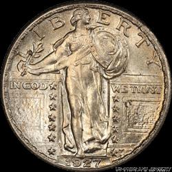 1927 Standing Liberty Quarter PCGS MS65FH