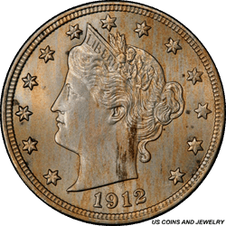 1912-D Liberty V Nickel  PCGS MS64