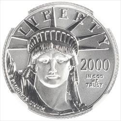 2000 $25 American Platinum Eagle NGC MS70