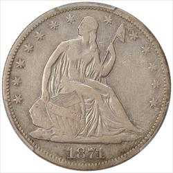 1871-CC Seated Liberty Half Dollar PCGS F12