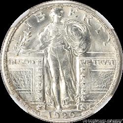 1920-D Standing Liberty Quarter NGC MS66