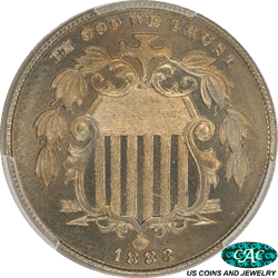 1883  Shield Nickel Proof PCGS  PR 67 CAC - Nice Original Coin