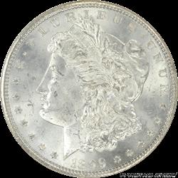 1899 Morgan Silver Dollar NGC MS65 Frosty White Gem BU