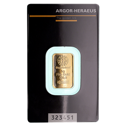 5 GRAM GOLD BAR ARGOR-HERAEUS