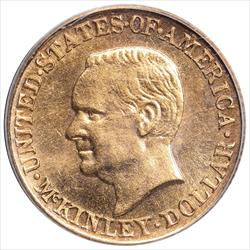 1916 G$1 McKinley Gold $1 Commemorative PCGS MS64
