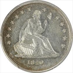 1840-O  No Drapery Seated Liberty PCGS AU55