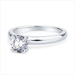 Ladies .77ct GIA Certified Round Brilliant Diamond Solitaire Engagement Ring