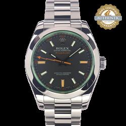 Rolex 40mm Milgauss RN/116400V Watch and Card