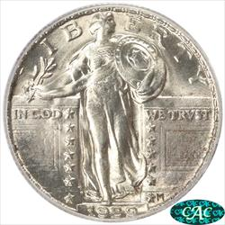 1929 Standing Liberty Quarter PCGS MS64FH CAC Frosty White Choice BU
