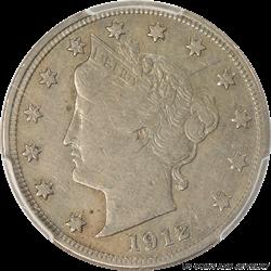 1912-S Liberty V Nickel PCGS VF20