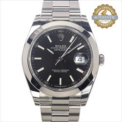 Rolex 41mm Datejust Ref/126300 Radiant Black Dial on Oyster Watch and Card