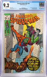June 1971 Amazing Spider-Man #97 CGC 9.2  Drug Use story Issue No Comics Code Authority Seal