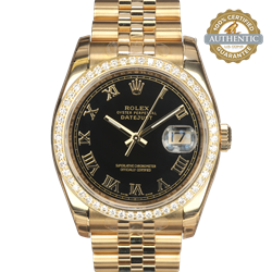 Rolex 36mm Datejust President116238 DD and Roman Dial With Stickers