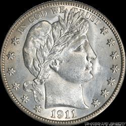 1911-S Barber Quarter Dollar PCGS MS63 - Nice White Coin