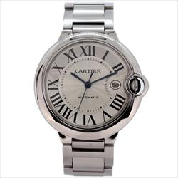 CARTIER SS Ballon Bleu 42mm Watch With Box and Tag