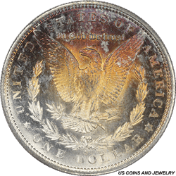 1880-S Morgan Silver Dollar PCGS MS65 Old Rattler with Gorgeous Reverse Toning