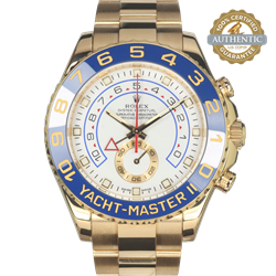 Rolex 44mm Yacht Master II 116688 18K Yellow Gold With Box and Card