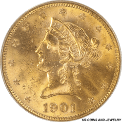 1901-S Liberty $10 Gold Eagle PCGS MS63 PCGS Old Green Holder