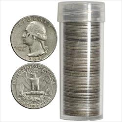 ROLL 90% Silver Quarters - 40 total coins 1964 and before