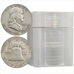 Roll 90% Silver Franklin Half Dollars 20 total coins