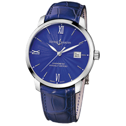ULYSSE NARDIN 40mm Classico San Marco 8153-111 With Box and Card