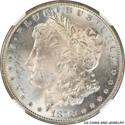 1878 Morgan Silver Dollar 7TF Rev OF 78 NCG MS63 Nice Attractive Coin with good Eye Appeal