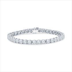 15.17cttw Round Brilliant Diamond and Platinum Tennis Bracelet - 37 rounds .41ct each