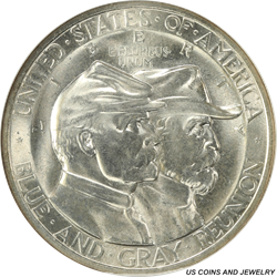 1936 50C Gettysburg Half Dollar Commemorative NGC MS 66
