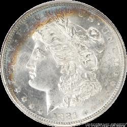 1881-S Morgan Silver Dollar PCGS MS-66