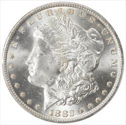 1882-CC Morgan Silver Dollar PCGS MS64 Frosty White Choice BU
