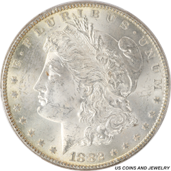 1882 Morgan Silver Dollar PCGS MS64