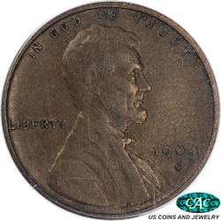 1909-S VDB Lincoln Wheat Cent PCGS and CAC XF40 Great Collectors Coin